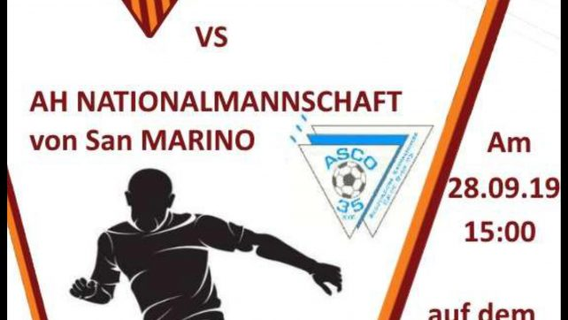 Spiel gegen die AH-Nationalmannschaft San Marino